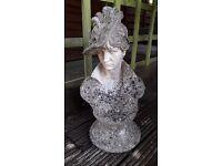 Garden stone ornament Victorian bust