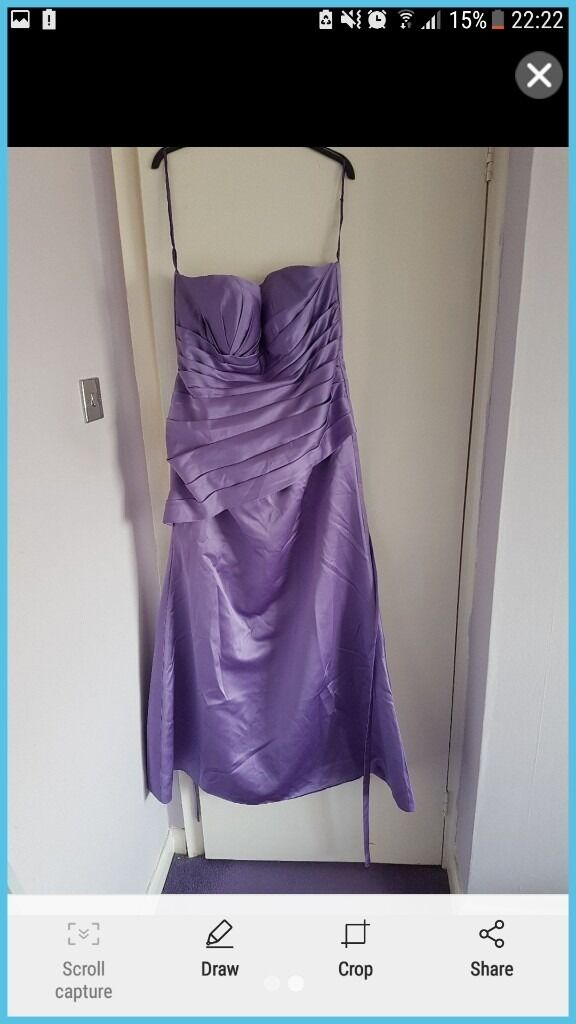 Lilac bridesmaids dresses/evening gownsin Nuthall, NottinghamshireGumtree - 2 lilac bridesmauds dresses/ evening gowns 1 size 16 and 1 size 18. In great condition worn only once
