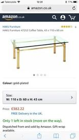Gold haku coffee table cost £382 take £170 brand new flat pack bargain