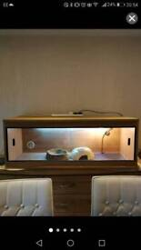 4ft wooden reptile tank