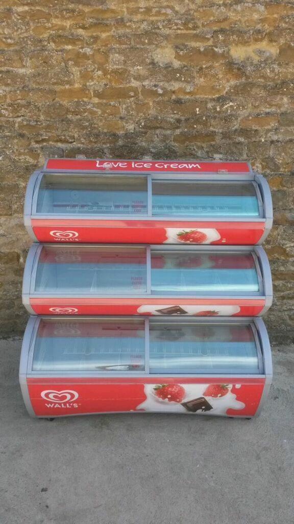 lollipops and ice cream display freezer