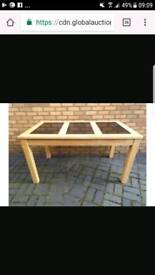 Wood and grormit table