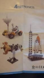 Nanoblocks Mission to mars w/ Space Shuttle, Satellite and Rover + spare bricks