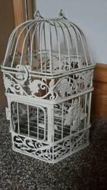 3 x shabby chic lights birdcage