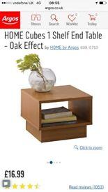 Argos home cubes 1 shelf oak table