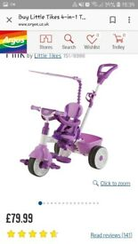 Little tikes trike. Like new used once and the little one didn't like it.