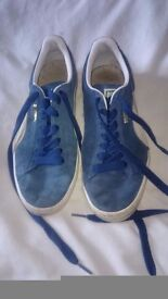 Blue puma trainers size 6