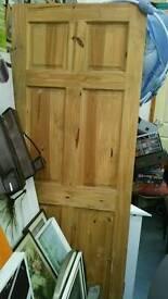 Interior pine door