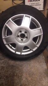 205/55/16 tyre 5x100 spare alloy