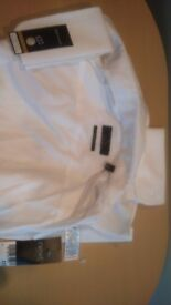 3 X Mens White Shirts by Next, 17 1/2 Collar, Slimfit with Long Sleeves
