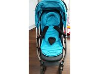 Oyster pushchair and colourpack
