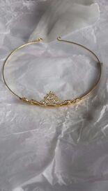 Elegant white stoned golden color Tiara