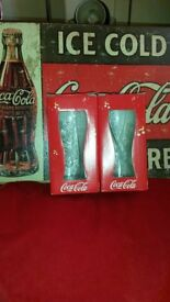 coca cola glasses - new boxed