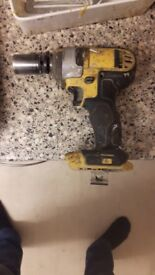 Dewalt impact wrench driver 3/8 drive 18v bare tool in perfect working order bargain £30