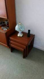 Furniture, nest of 3 tables