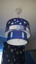 Space themed light shades x2