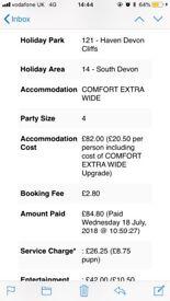 Haven caravan holiday - Devon cliffs exmouth 7/9/18
