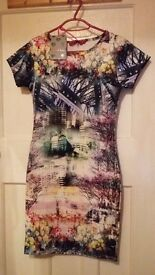 Boohoo Body con Skirt Multicoloured Size 8 Brand New Still Has Tags