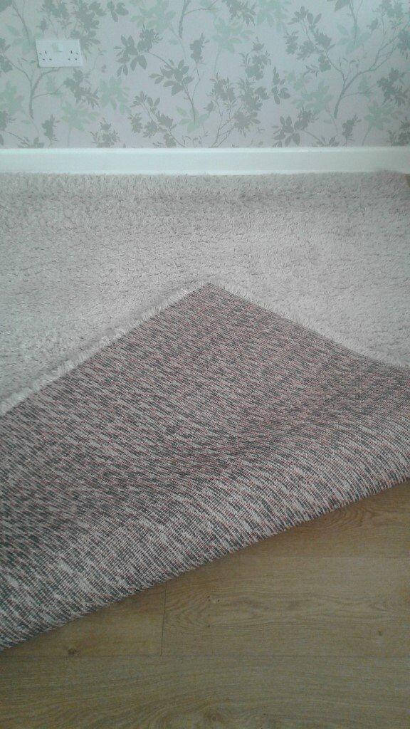 Cream Shag Pile Rug