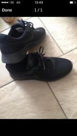 Size 8 Nike black trainers