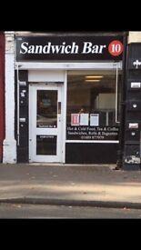 Sandwich bar shop lease for sale Orpington high street