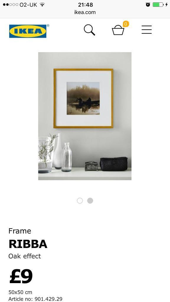 2 White Ikea ribba large picture frames | in Gateshead, Tyne and ...