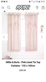 Mamas and Papas curtains and cot bumper