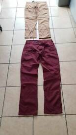 2 pairs of chinos or smart dress trousers