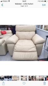 POWER RECLINING LEATHER SOFA AND CHAIR