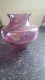 Caithness glass vase 14cm high