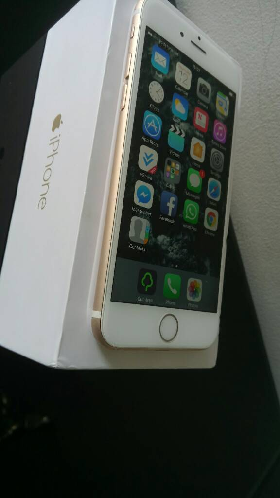 **Boxed Apple iPHONE 6 gold 16gb ** lovely condition **