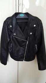 Girls leather jacket h&m