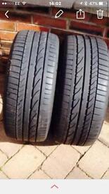 "BMW 18"" Bridgestone Run Flat Tyres"