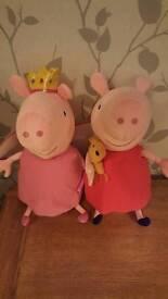 2 Large Peppa Pig toys