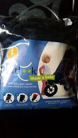 Baby pram sun protection net UPF 50+ sun visor