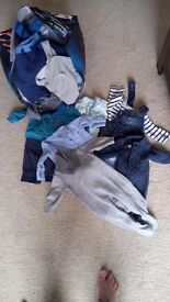 Large bag of baby boy clothes 0-3. Next baby K gap Ted baKer