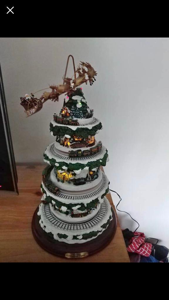 Thomas Kinkade Wonderland Express Christmas Tree In Sutton In