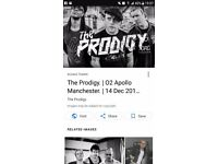 Prodigy 2 x standing tickets manchester 14th december