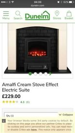Amalfi Mini Stove Electric Fire Suite new