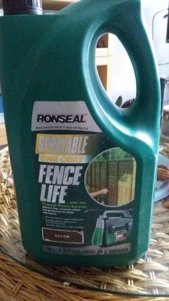 Ronseal sprayable paint