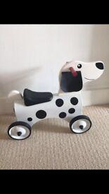 Toy dog ride on wheels