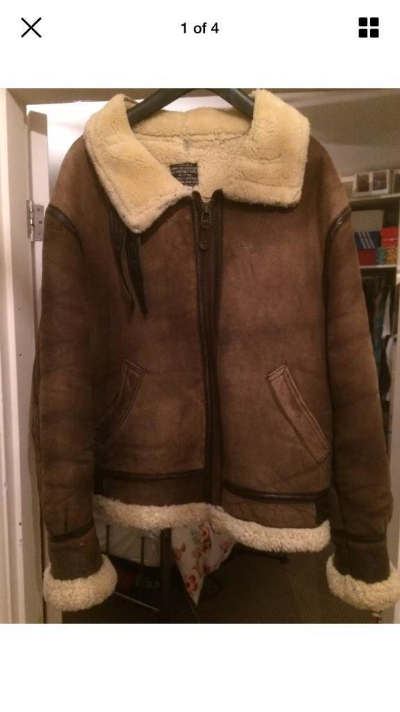 Avirex sheepskin flying jacket 42 inch chest(large) | in Southsea