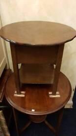 Vintage Sewing Table Solid Oak