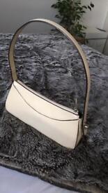 Cream handbag
