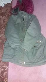 Parka coat age 6/7 years old girls