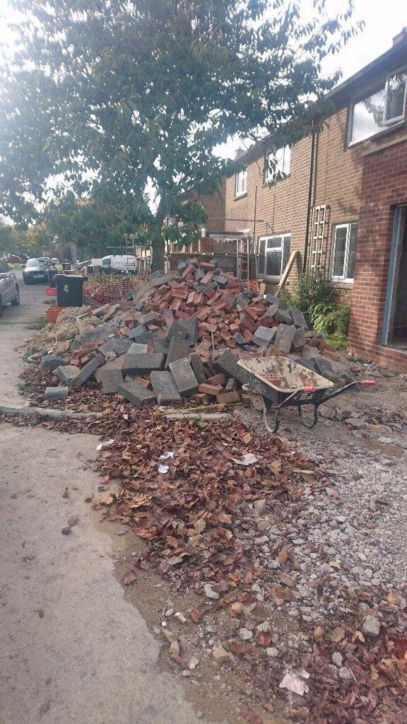 Bricks, concrete block off cuts - Free