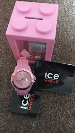 Pink ice watch