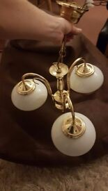 Brass chandelier downlight
