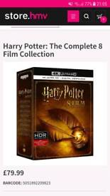 Harry potter 4k boxset the complete 8 film collection