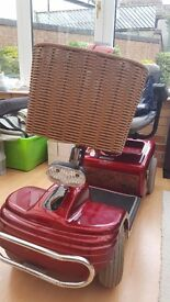 Shoprider Deluxe Mobility Scooter TE888NR 2 new batteries, basket, light,raincover. Includes charger